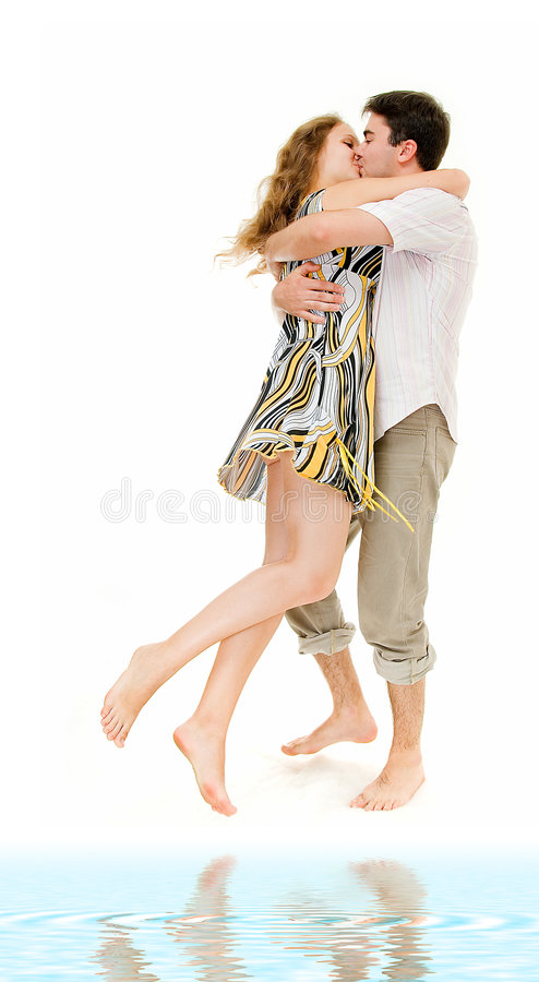 Download Embrace on white sand stock image. Image of isolation - 6454985