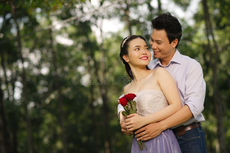 Embracing sweetheart royalty free stock photo