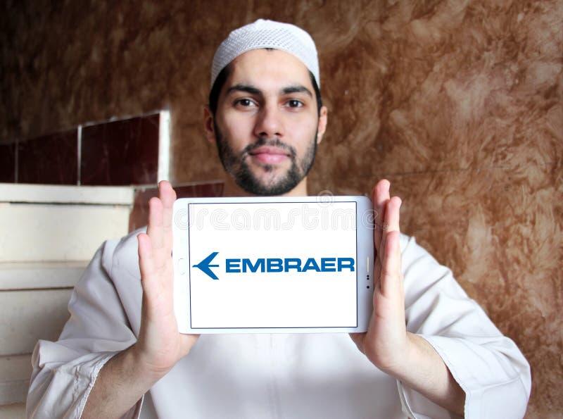 Embraer aerospace company logo stock images