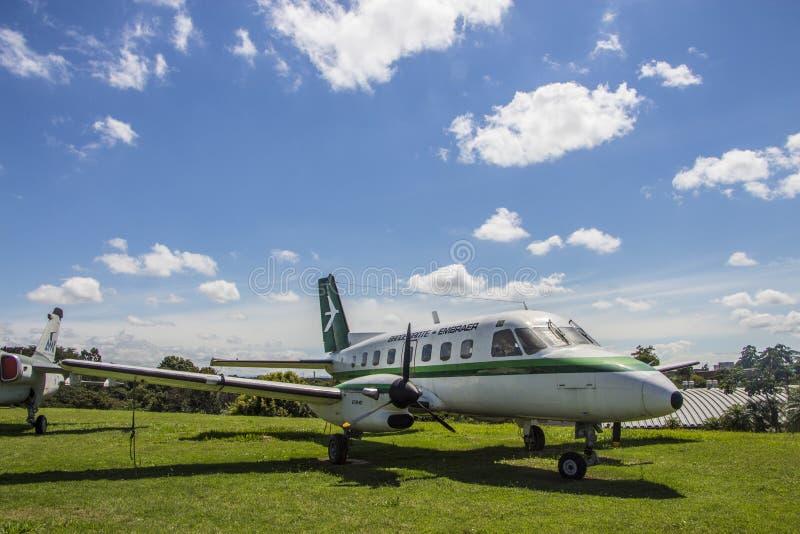 Embraer Bandeirante - mémorial d'Aerospacial de Brésilien (MAB) photographie stock