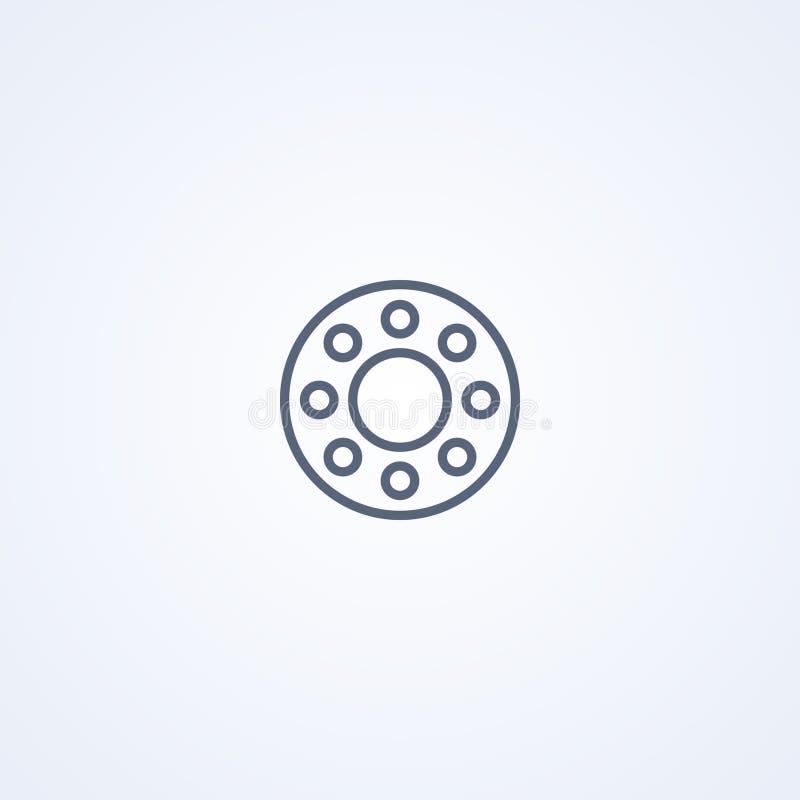 Embrague, la mejor línea gris icono del vector stock de ilustración
