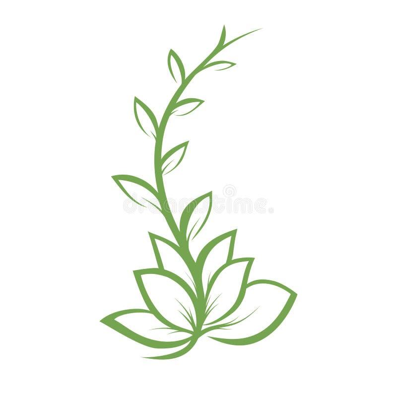 Embranchez-vous avec des feuilles, élément de conception, élément simple de vecteur images libres de droits