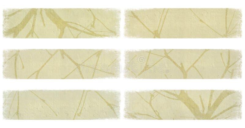 Embranchez-vous sur le positionnement de drapeau de papier en ivoire d'isolement illustration stock