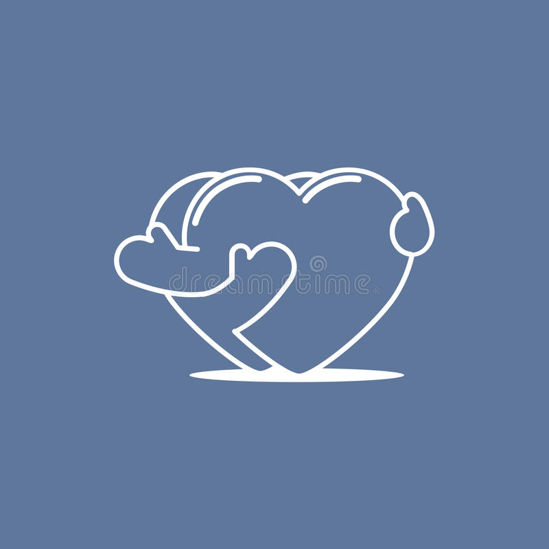 Embrassement des coeurs 01 illustration stock