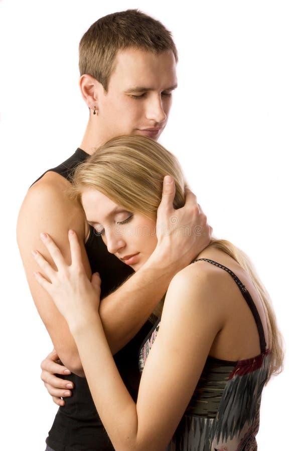 Embrassement des couples photographie stock libre de droits