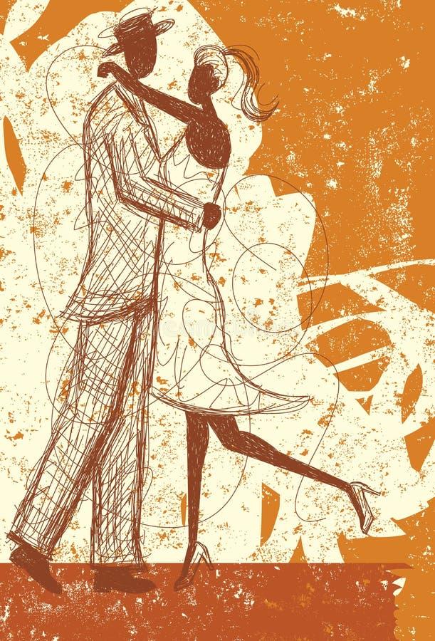 Embrassement du croquis de couples illustration de vecteur