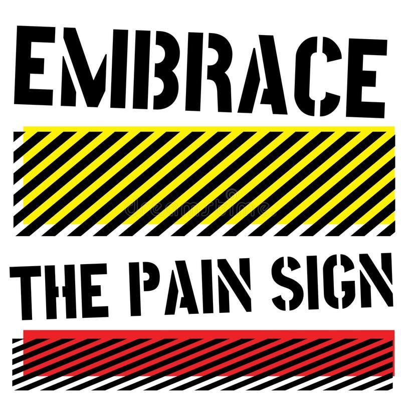 Embrassez le signe de citation de signe de douleur illustration libre de droits