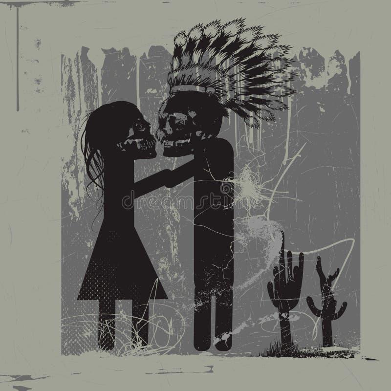 Embrassez-moi - embrassez-moi - m'embrassent illustration de vecteur