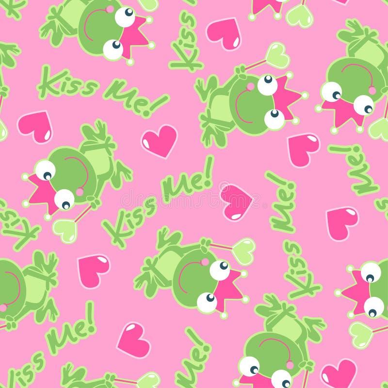 Embrassez-moi grenouille. illustration de vecteur
