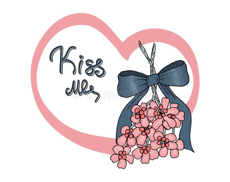 Embrassez-moi sous le gui illustration stock