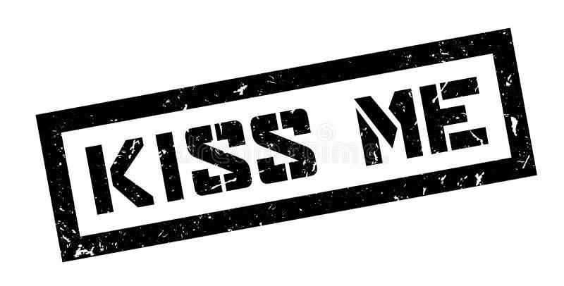 Embrassez-moi tampon en caoutchouc illustration stock