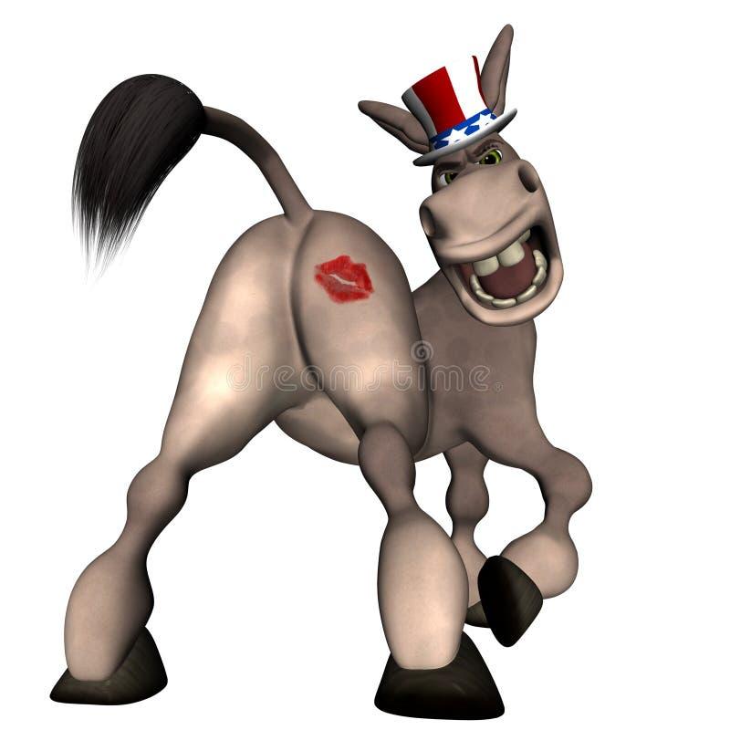 Embrassez mon âne illustration libre de droits