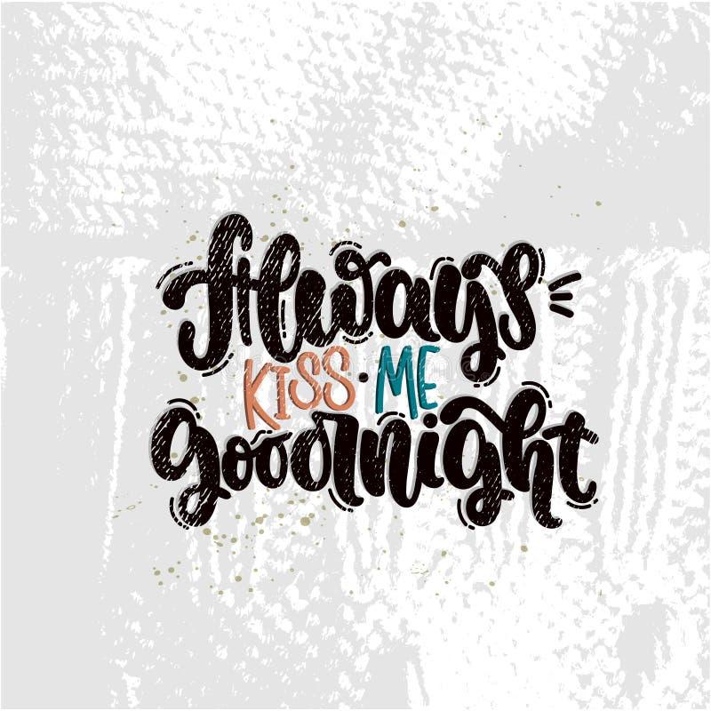 Embrassez-toujours moi bonne nuit illustration stock