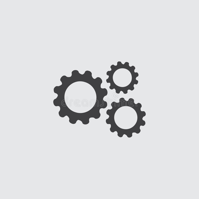 Embraye l'icône dans une conception plate dans la couleur noire Illustration EPS10 de vecteur illustration libre de droits