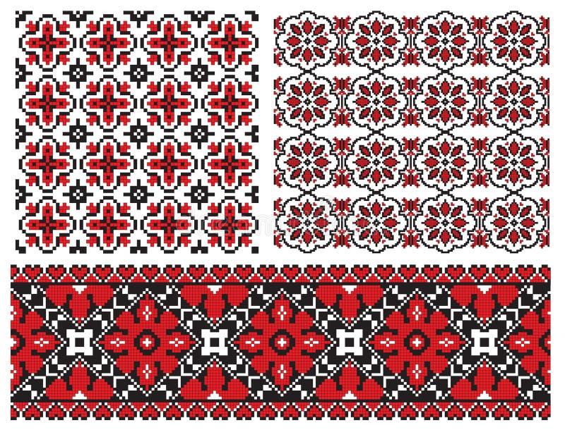 embrodery stary tekstury ukrainian ilustracji