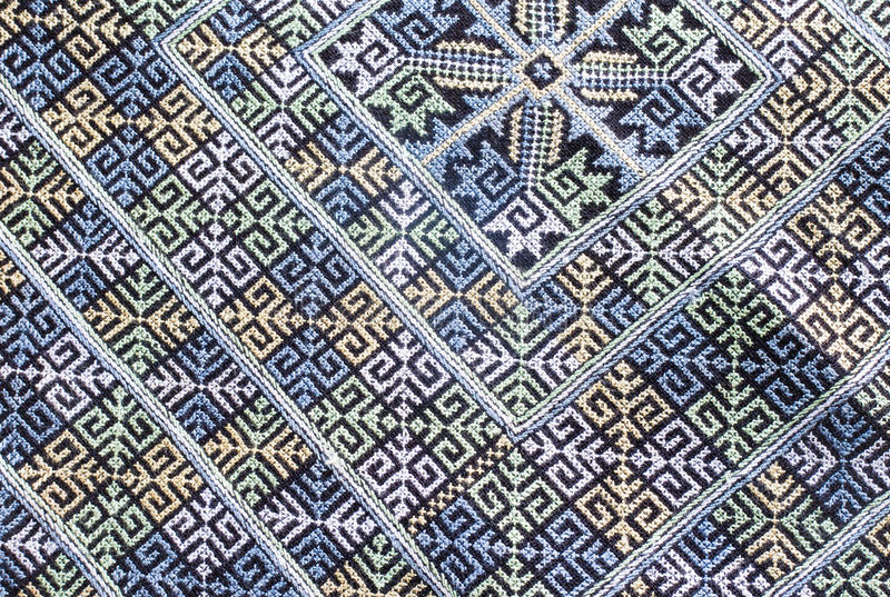 Embroidered fabric texture. Background , thailand royalty free stock photography