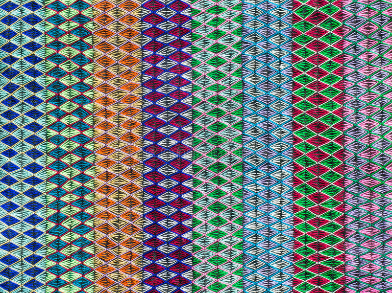 Embroidered fabric texture. Background , thailand stock images