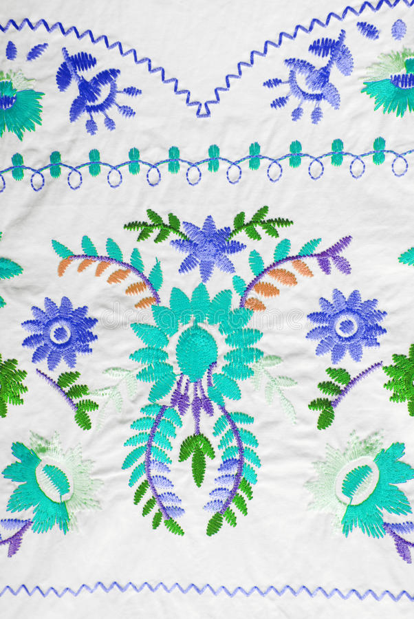 Embroidered fabric texture. In old style royalty free stock images