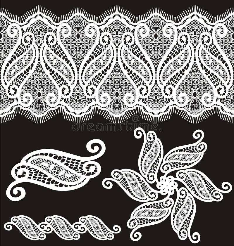 Free Embroidered Guipure Lace Design Royalty Free Stock Photo - 12737305