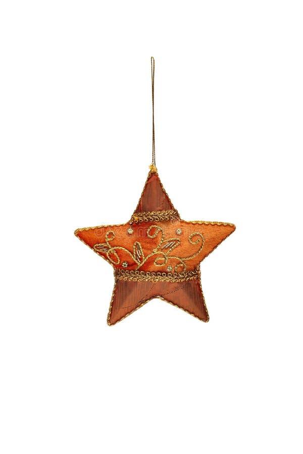 Embroidered hand-gjorde julstjärnan royaltyfri fotografi
