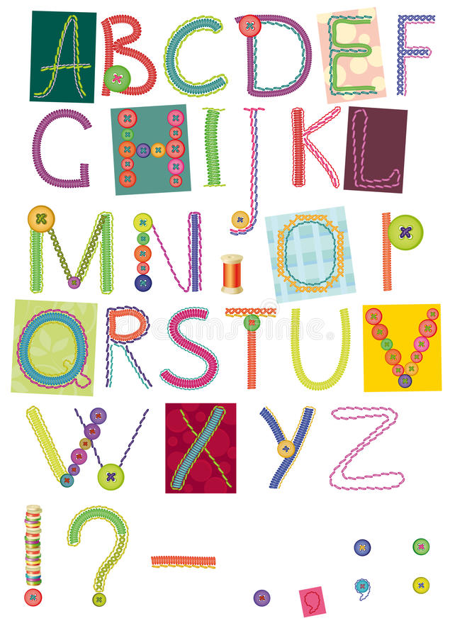 Download Embroidered letters stock illustration. Image of exclusive - 25137567