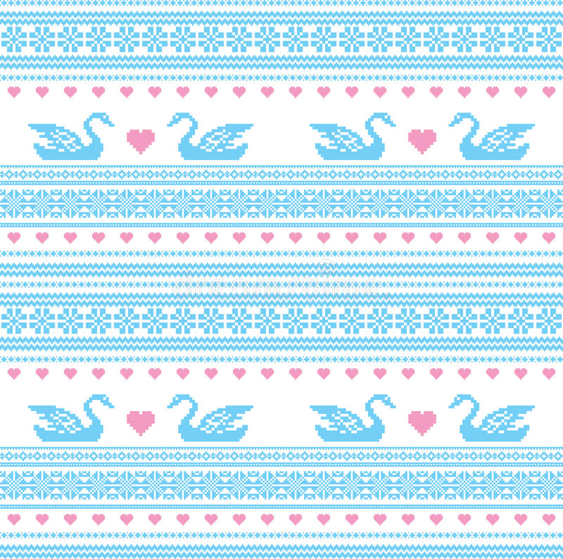 Embroidered motif seamless pattern