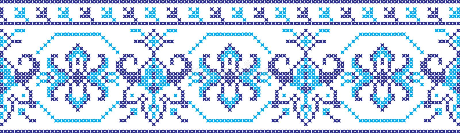 Embroidered pattern on transparent background stock images