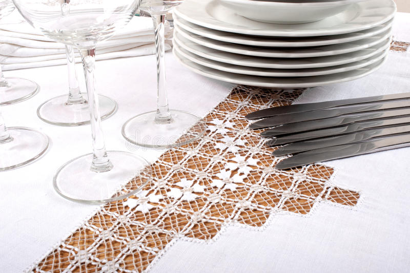 Embroidered Tablecloth Stock Photo