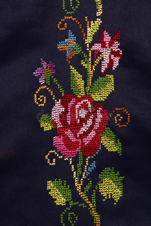 Free Embroidery By Needle Royalty Free Stock Photography - 34011077