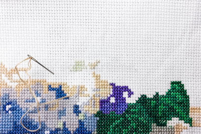 Embroidery and cross stitch accessories royalty free stock images