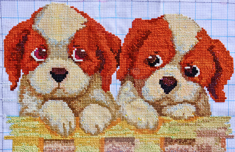 Embroidery And Cross Stitch Design Stock Photo Image Of Colourful