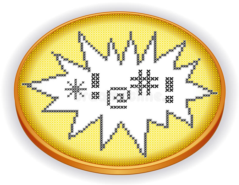 Download Embroidery Expletives, Cross Stitch Sampler, Wood Stock Vector - Image: 37066488