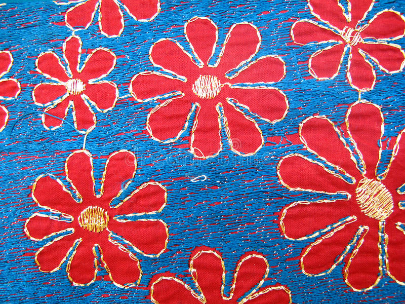 Embroidery Fabric stock images