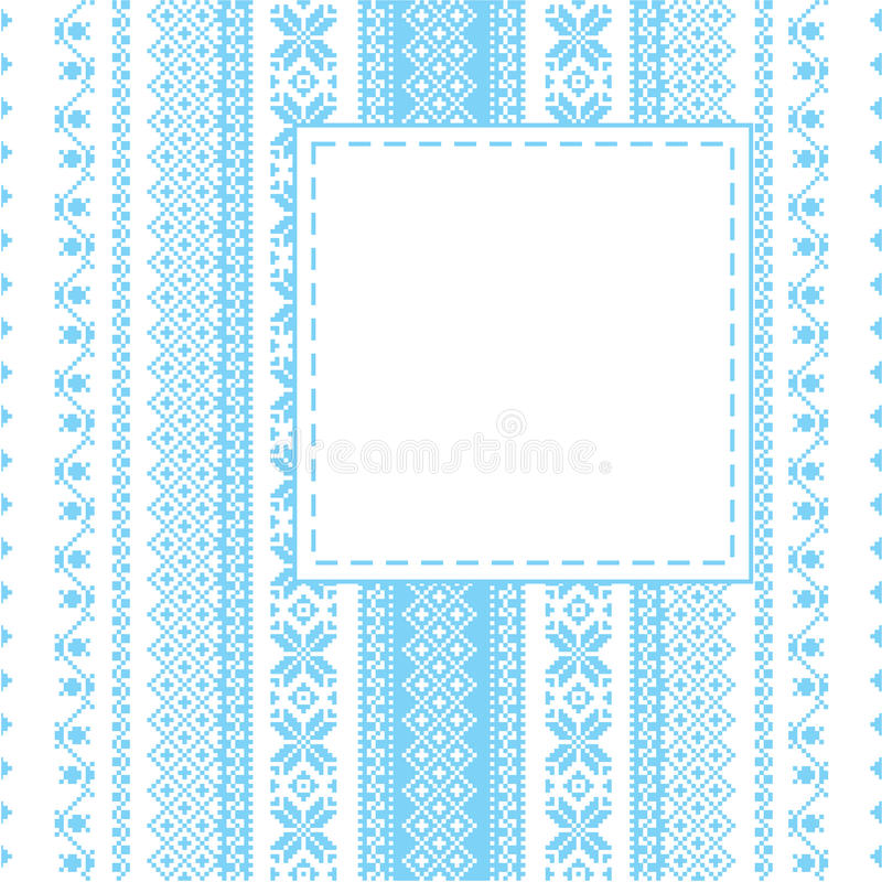 Embroidery frame in folk style royalty free illustration