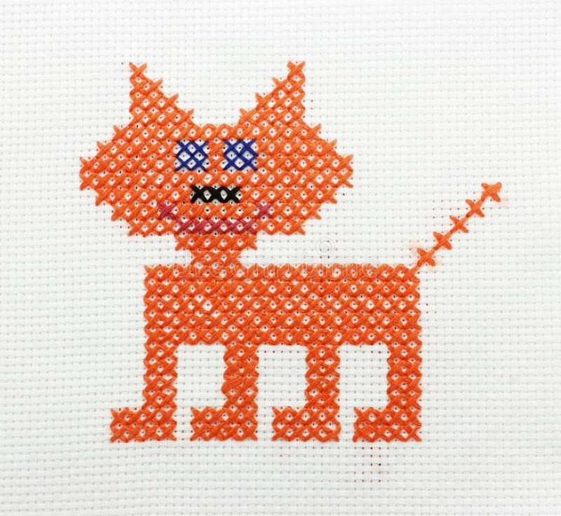 Embroidery Of The Image Of A Bear Royalty Free Stock Photos