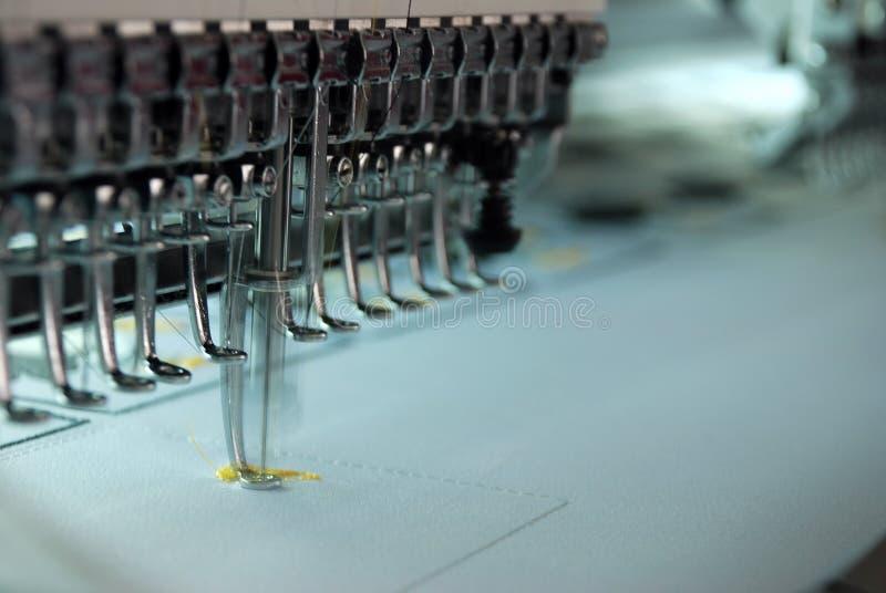 Embroidery machine stock image