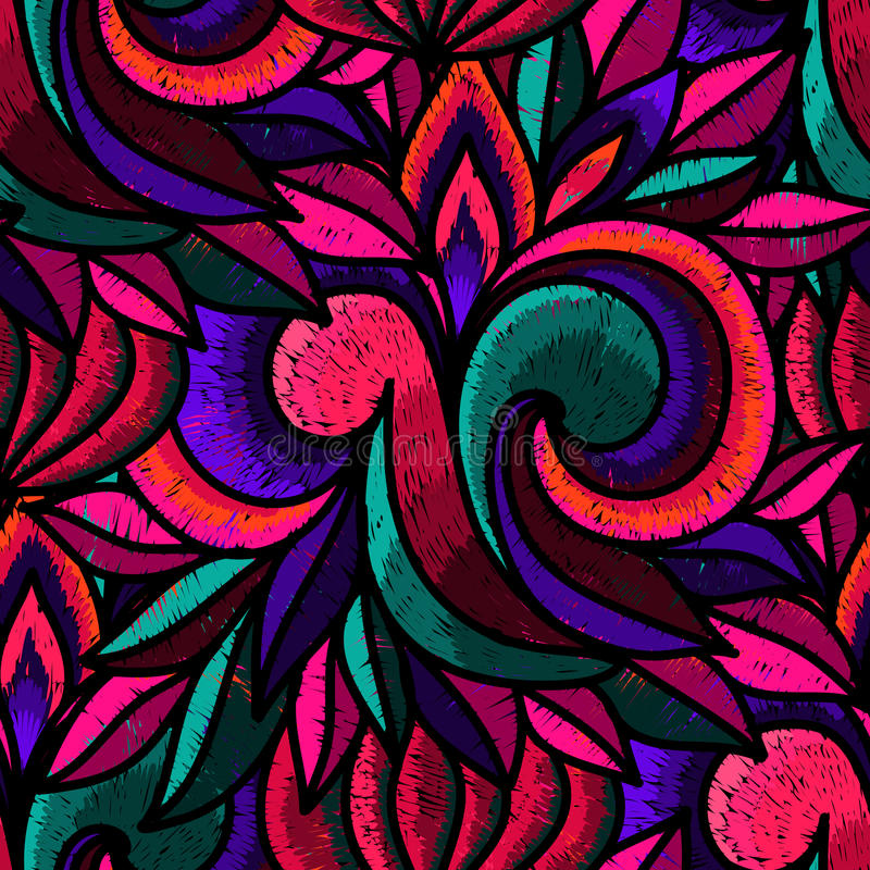 Embroidery stock illustration
