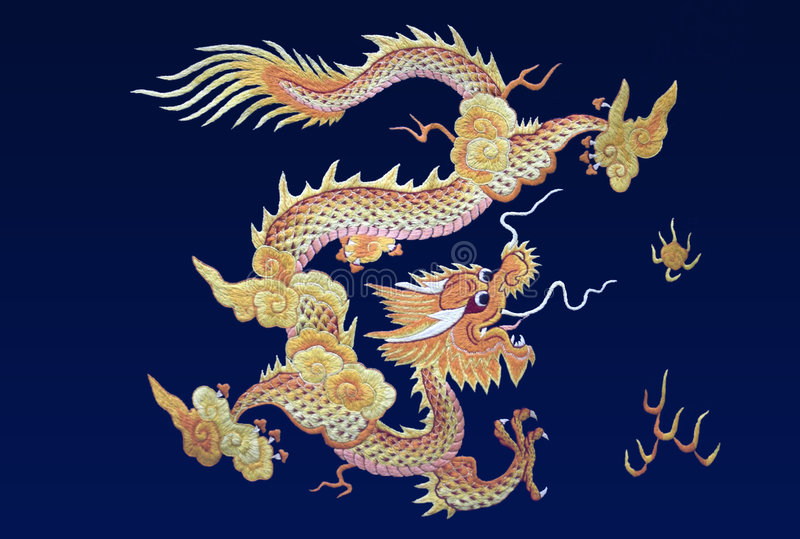 Download Embroidery in silk. stock photo. Image of asia, pattern - 660328