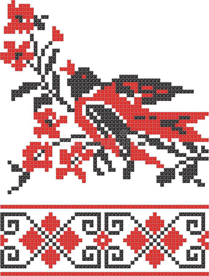 Download Embroidery Slavic Cross Pattern Stock Vector - Image: 14069634