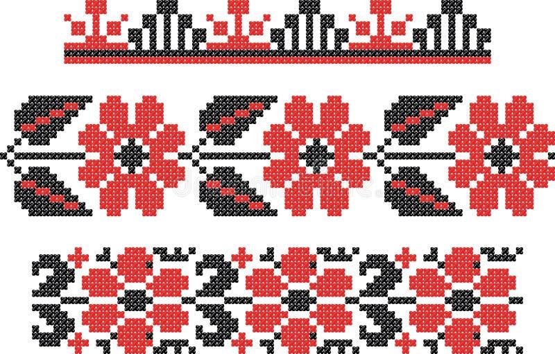 Embroidery Slavic Cross Pattern Stock Photo