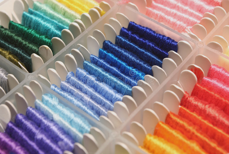 Download Embroidery Thread stock image. Image of fabric, skeins - 2252089