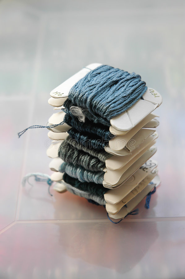 Download Embroidery thread stock image. Image of embroidery, blue - 524815