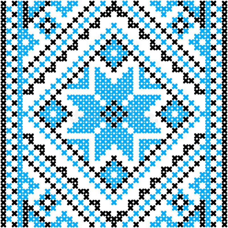 Embroidery.Ukrainian national ornament vector illustration