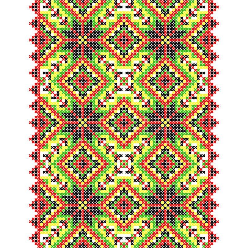 Embroidery. Ukrainian national ornament. Decoration. Vector illustration royalty free illustration