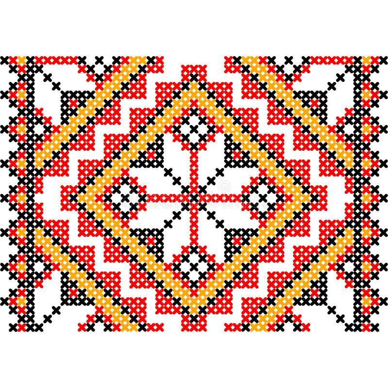 Embroidery. Ukrainian national ornament. Decoration. Vector illustration stock illustration