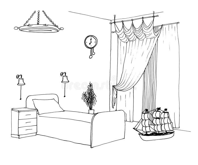 Embroma bosquejo gráfico del sitio de los muchachos stock de ilustración