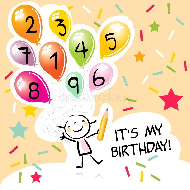 Embroma cumpleaños stock de ilustración