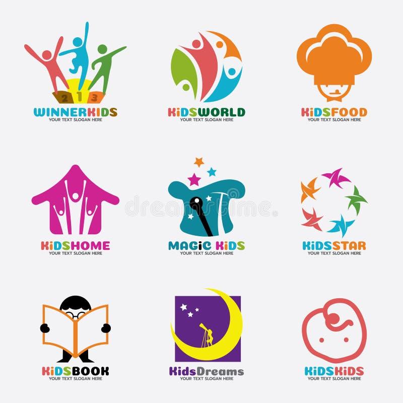 Embroma diseño determinado del arte creativo del concepto del vector del logotipo ilustración del vector