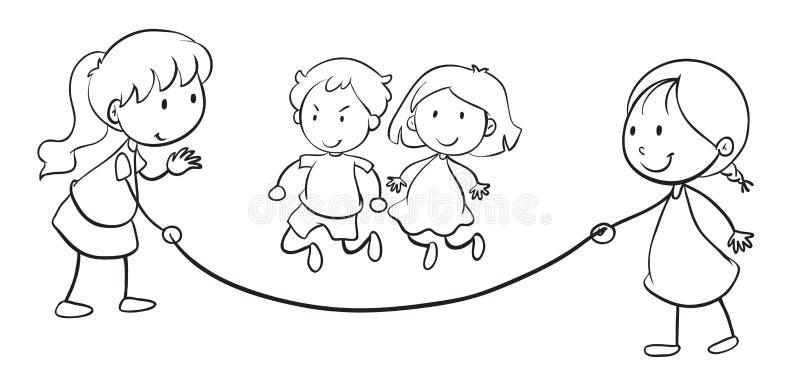 Embroma la cuerda de salto libre illustration
