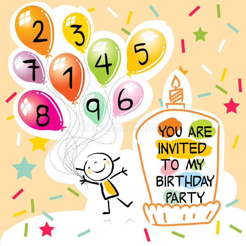 Embroma la tarjeta de cumpleaños libre illustration